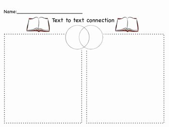 Text to Text Connections Worksheet Inspirational Text Connection for Elementary