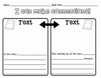Text to Text Connections Worksheet Lovely Text to Text Graphic organizer by Christine sobczak