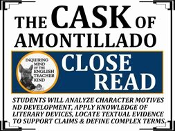 "The Cask Of Amontillado Worksheet Beautiful ""the Cask Of Amontillado"" Close Reading Worksheet & Key by"