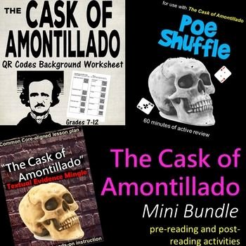 "The Cask Of Amontillado Worksheet Elegant ""the Cask Of Amontillado"" Mini Bundle"