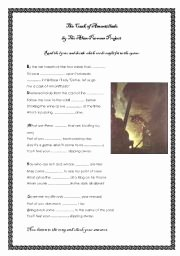 The Cask Of Amontillado Worksheet Luxury English Teaching Worksheets Other songs