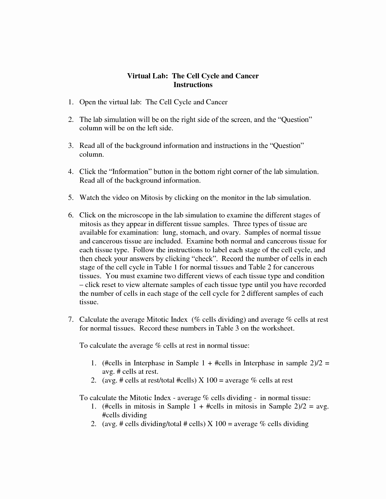 The Cell Cycle Worksheet Answers Inspirational 14 Best Of Biology if8765 Worksheet Answer Key