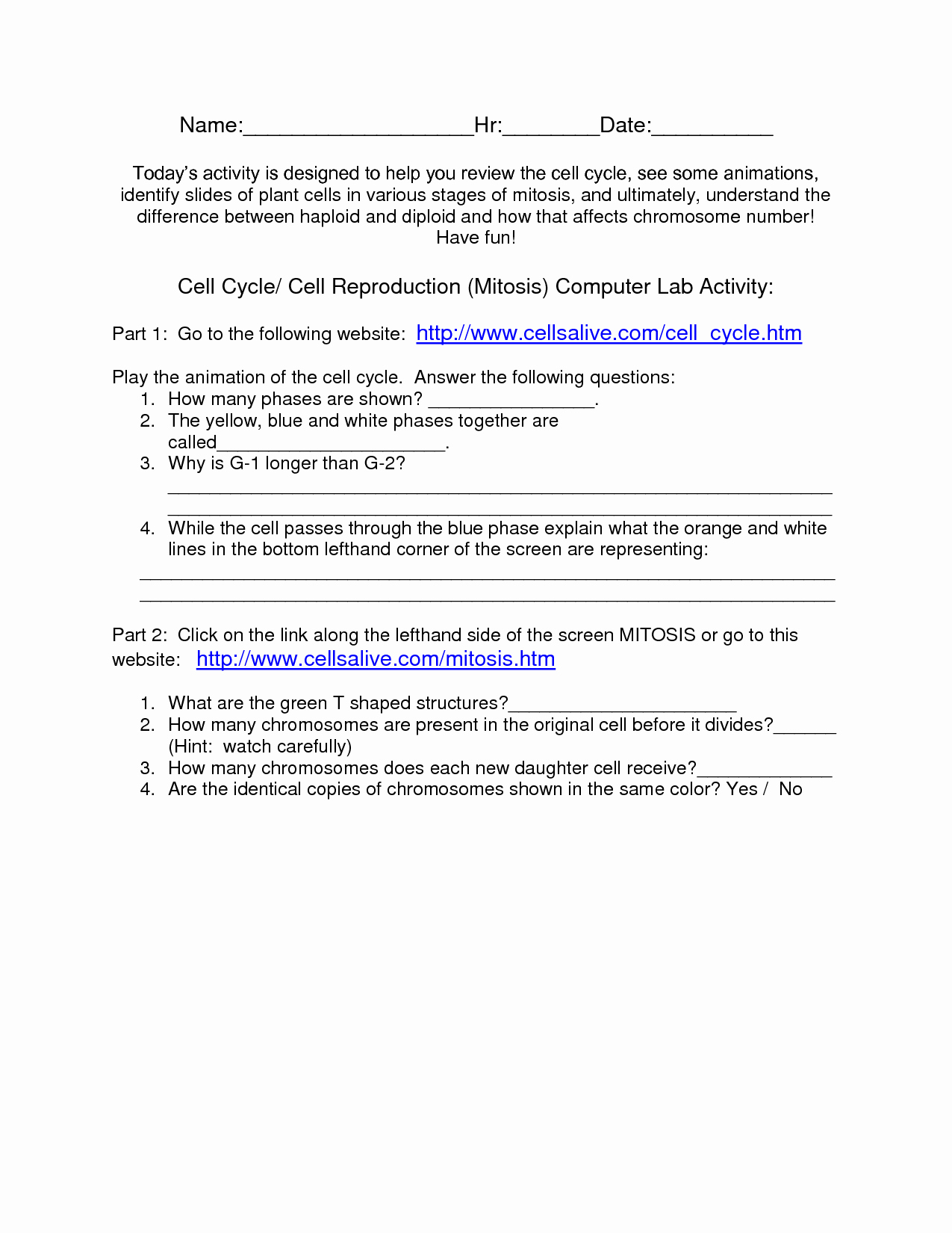 The Cell Cycle Worksheet Answers Unique 14 Best Of Experimental Design Worksheet Answer Key