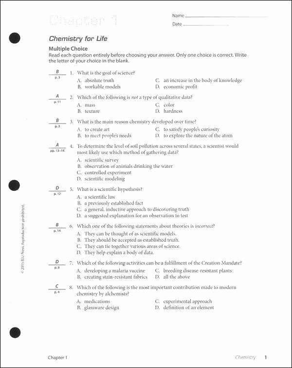 The Chemistry Of Life Worksheet Beautiful Chemistry Life Worksheet