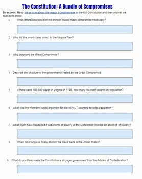 The Constitution Worksheet Answers Inspirational Promises Of the Constitutional Convention by Students