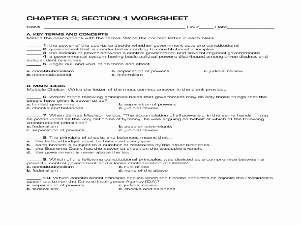 The Constitution Worksheet Answers Unique the Ultimate Guide to the Presidents Worksheet Answers