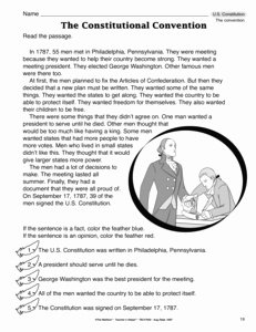 The Constitutional Convention Worksheet Awesome Results for social Stu S