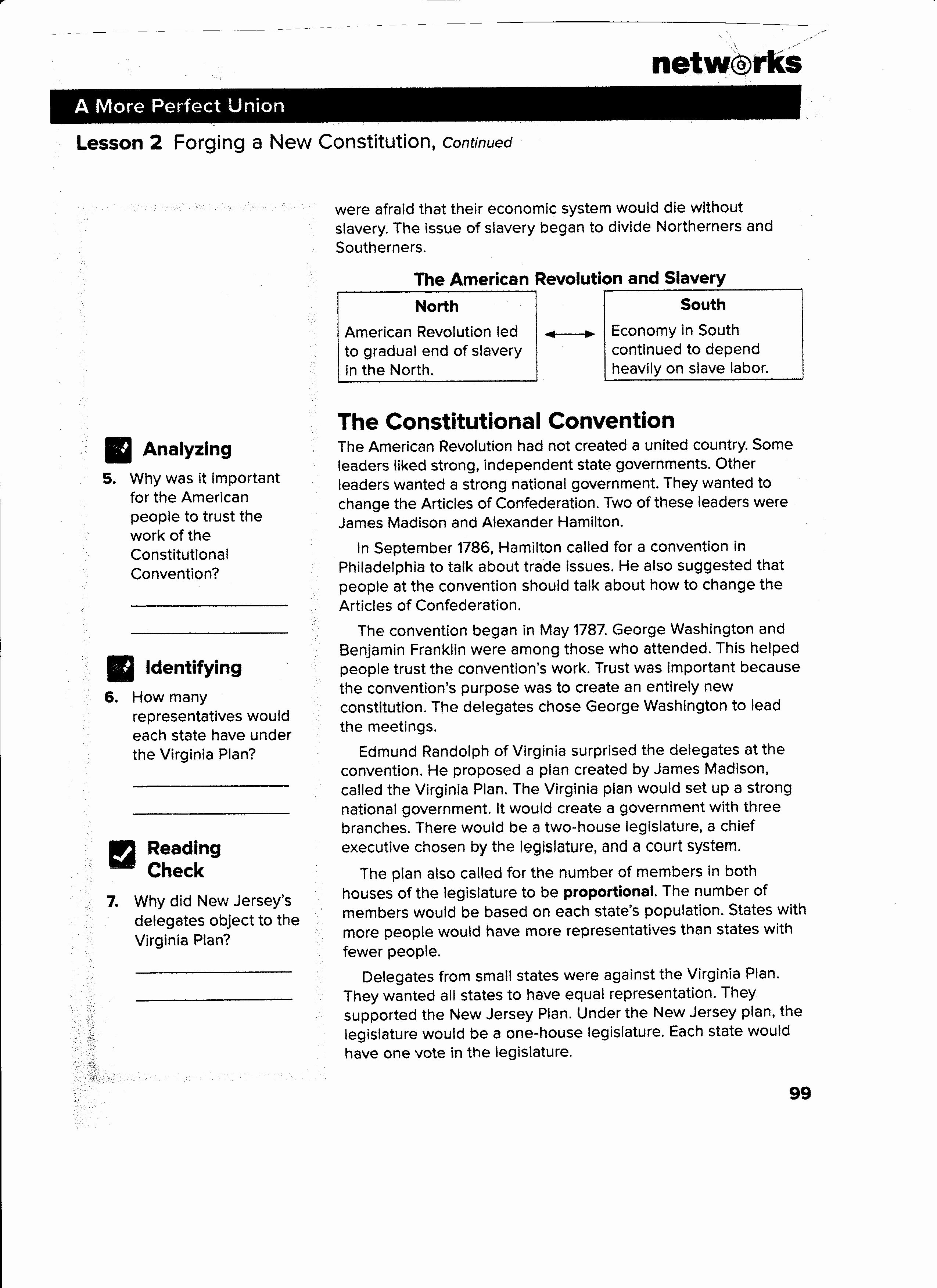 The Constitutional Convention Worksheet Luxury Guided Reading Activity 2 1 Economic Systems Worksheet