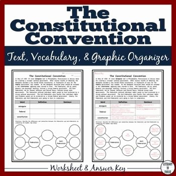 The Constitutional Convention Worksheet New 25 Best Images About Vocabulary Graphic organizer On