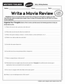 The Core Movie Worksheet Answers Awesome Write A Movie Review 6th 10th Grade Worksheet