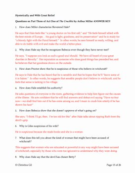 The Core Movie Worksheet Answers Beautiful the Crucible Act 1 Questions and Answers Worksheets