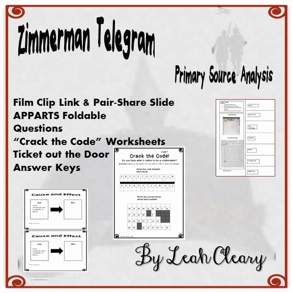 The Core Movie Worksheet Answers Luxury Zimmerman Telegram Primary source Lesson