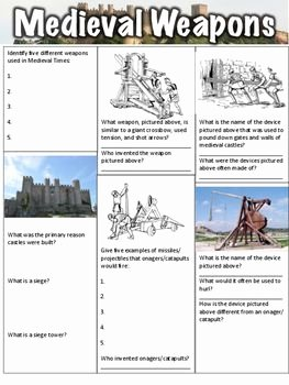 The Dark Ages Video Worksheet Elegant Me Val Weapons Worksheet