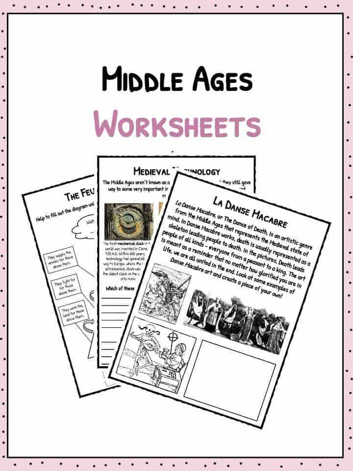 The Dark Ages Video Worksheet Elegant Middle Ages Facts Information & Worksheets