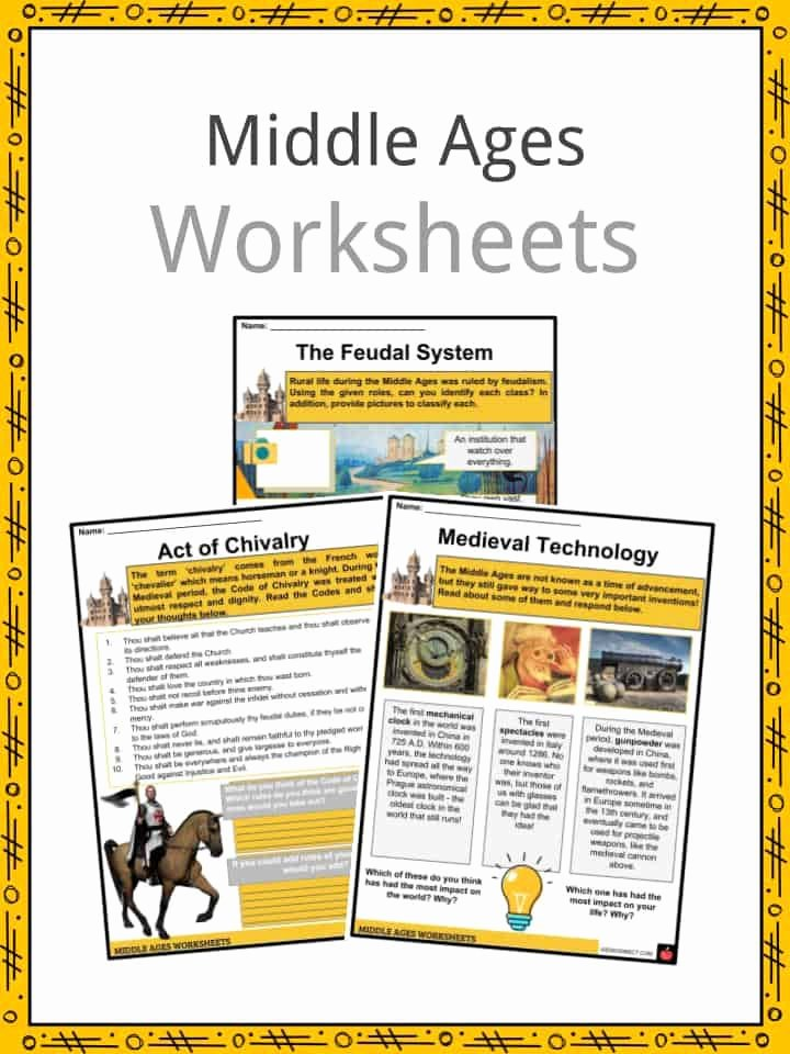 The Dark Ages Video Worksheet Unique Middle Ages Facts Worksheets events Culture