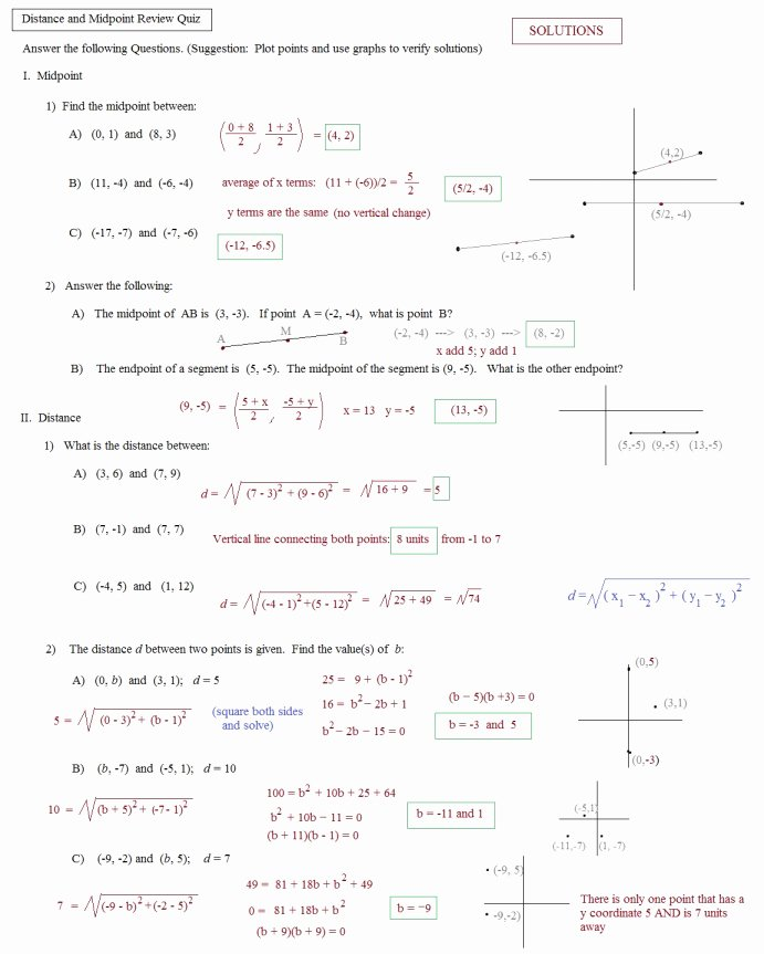The Distance formula Worksheet Answers Fresh Distance formula Practice Worksheet the Best Worksheets