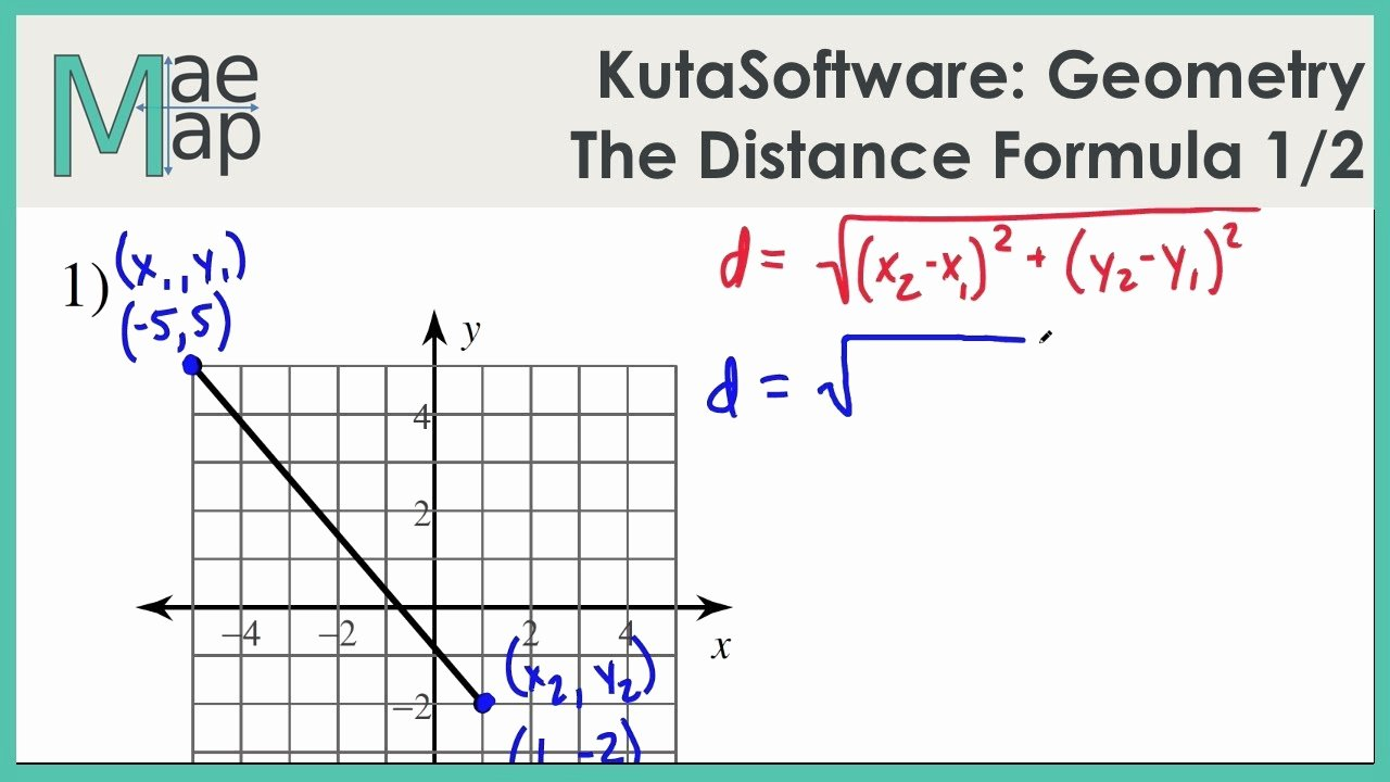 The Distance formula Worksheet New Kutasoftware Geometry the Distance formula Part 1