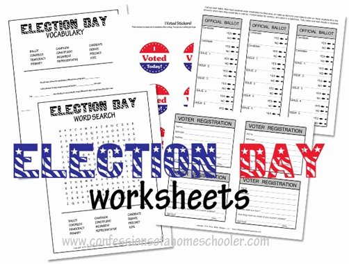 The Electoral Process Worksheet Answers Best Of Election Day Worksheets for Kids Confessions Of A