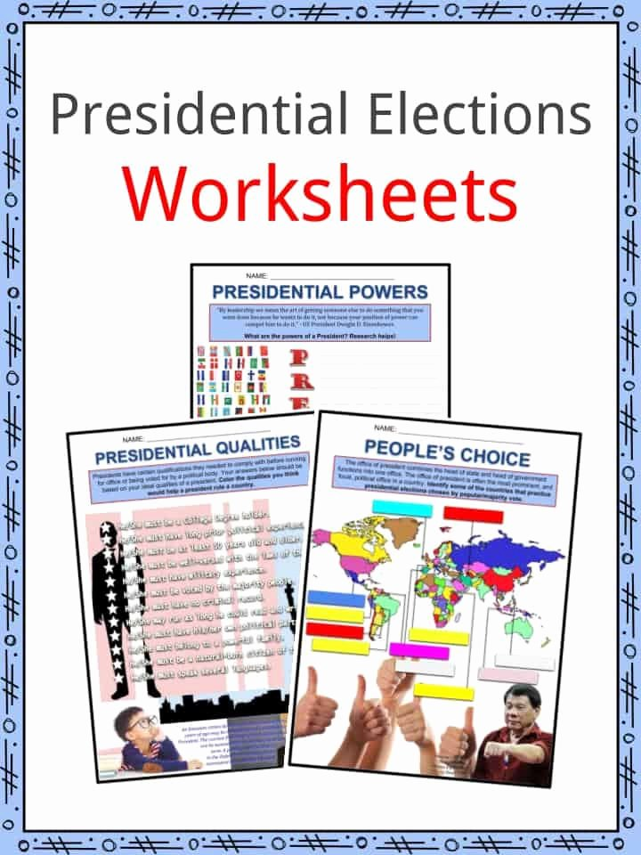 The Electoral Process Worksheet Answers Elegant Presidential Election Facts Worksheets Process Roles