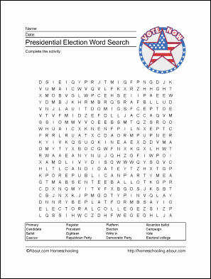The Electoral Process Worksheet Answers Elegant Presidential Election Printables Wordsearch Crossword