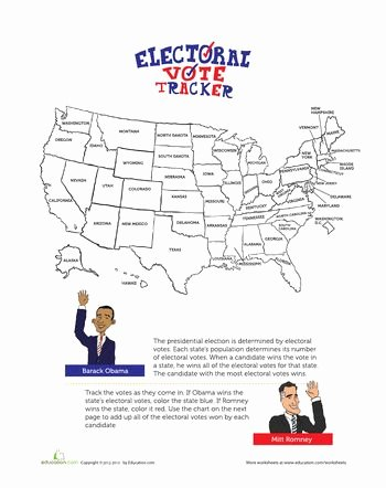 The Electoral Process Worksheet Beautiful Electoral Map 2012