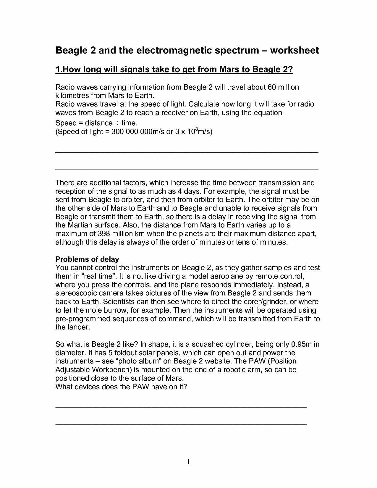 The Electromagnetic Spectrum Worksheet Beautiful 13 Best Of Light Worksheets for Middle School