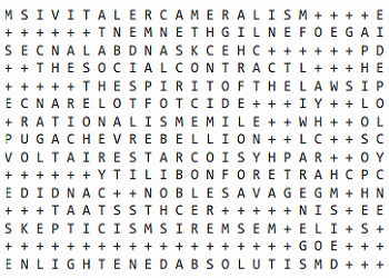 The Enlightenment Worksheet Answers Elegant Age Of Enlightenment Word Search Puzzle