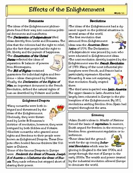 The Enlightenment Worksheet Answers Fresh Effects Of the Enlightenment by Lady Lion