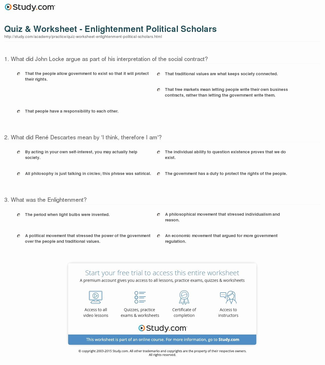 The Enlightenment Worksheet Answers Fresh Worksheet Enlightenment Worksheet Grass Fedjp Worksheet