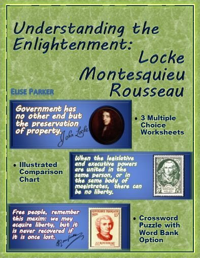The Enlightenment Worksheet Answers Luxury Enlightenment Worksheets and Puzzle Locke Montesquieu
