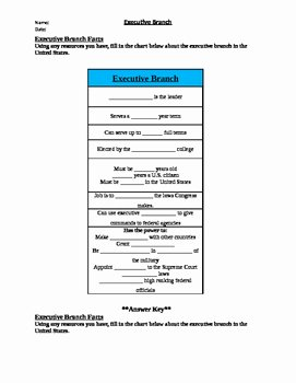 The Executive Branch Worksheet Best Of Executive Branch Worksheet Packet by 2nd Chance Works