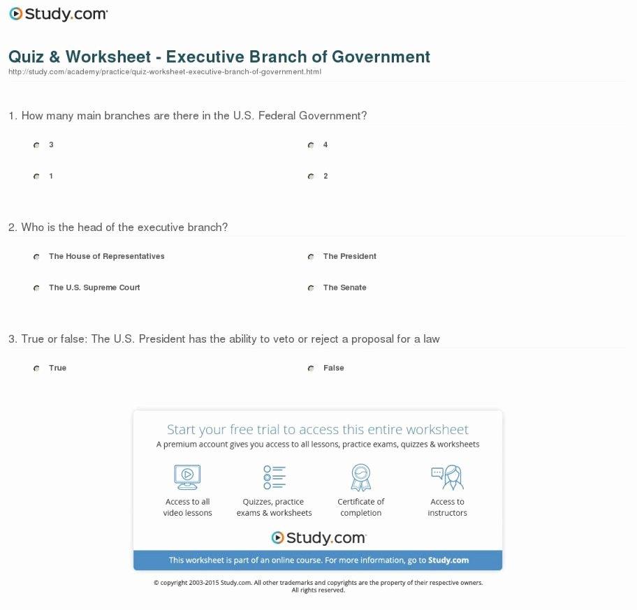 The Executive Branch Worksheet Elegant the Executive Branch Worksheet