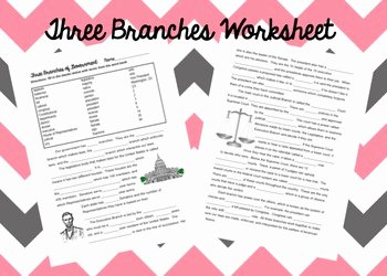 The Executive Branch Worksheet Luxury Three Branches Of Government Worksheet by Civics Teacher