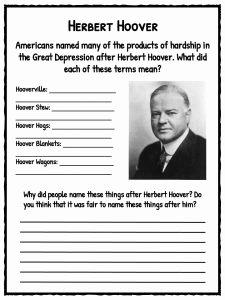 The Great Depression Worksheet Elegant the Great Depression Facts Information & Worksheets for Kids