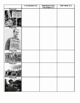 The Great Depression Worksheet New the Great Depression Gallery Walk Worksheet by Mrs Fs