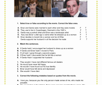 The Martian Movie Worksheet Luxury Movie Worksheet the Danish Girl