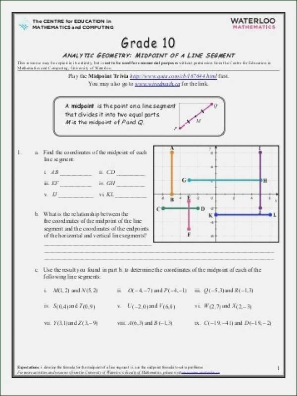 The Midpoint formula Worksheet Answers Awesome 25 Elegant the Midpoint formula Worksheet