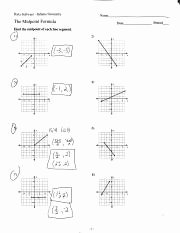 The Midpoint formula Worksheet Answers New 1 1 Notes Pdf