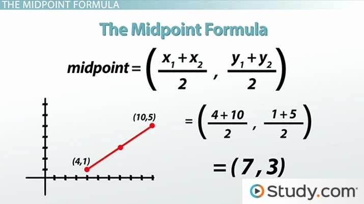 The Midpoint formula Worksheet Answers New How to Use the Midpoint formula Video & Lesson