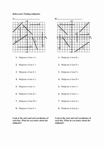 The Midpoint formula Worksheet Elegant Midpoints Of Line Segments Worksheet Resources Tes
