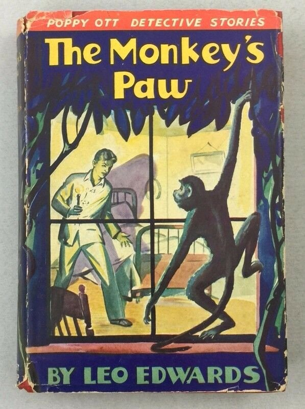 The Monkey's Paw Worksheet Lovely 1938 Scarce Detective Fiction Poppy Ott the Monkey S Paw