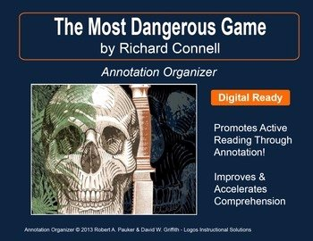 "The Most Dangerous Game Worksheet Inspirational ""most Dangerous Game"" by Richard Connell Annotation"