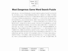 The Most Dangerous Game Worksheet Luxury Most Dangerous Game Word Search Puzzle 8th 11th Grade