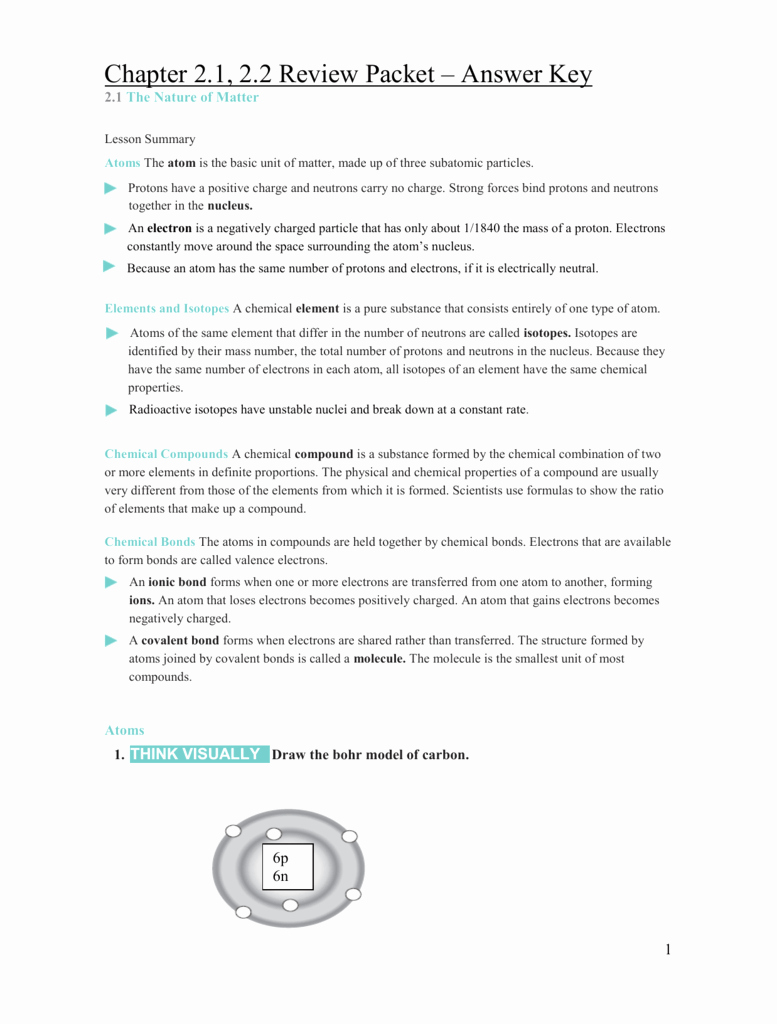 The Nature Of Science Worksheet Beautiful Chemistry A Study Matter Worksheet Electrons In atoms