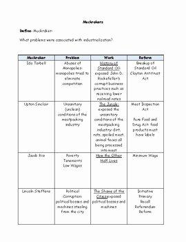 The Progressive Era Worksheet Awesome the Progressive Era Worksheet Answer Key