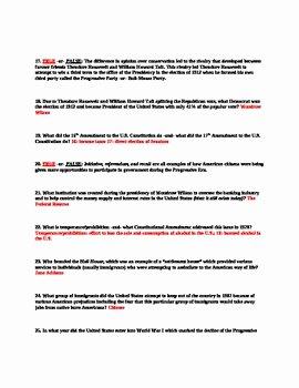The Progressive Era Worksheet Beautiful Progressive Era & Roosevelt Emergence Of Modern America