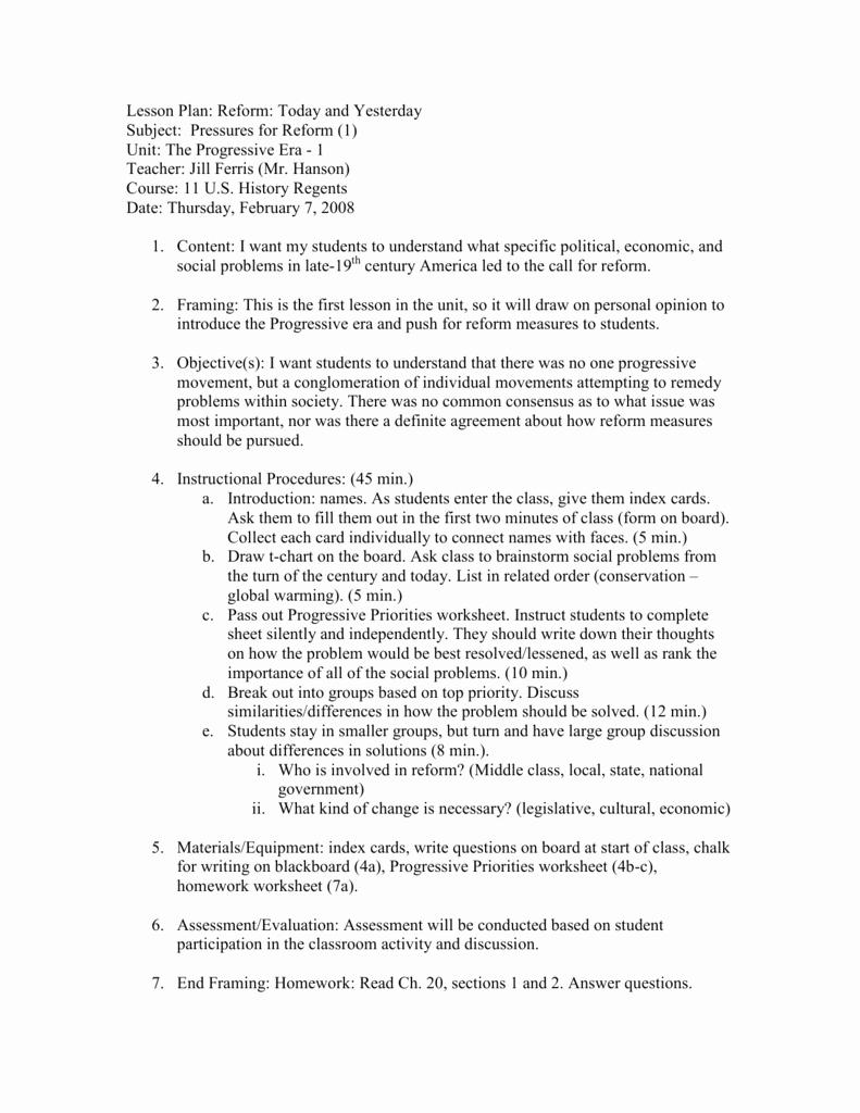 The Progressive Era Worksheet Elegant Worksheet Progressive Era Worksheet Grass Fedjp