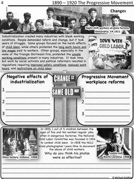 The Progressive Era Worksheet Inspirational Progressive Era by History In Focus