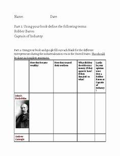 The Progressive Era Worksheet Inspirational Progressive Era Muckrakers Chart and Worksheet