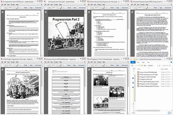 The Progressive Era Worksheet Unique social Political and Economic Goals Of the Progressive